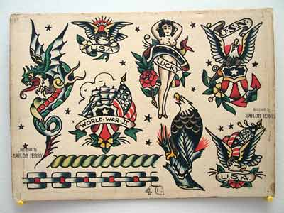 vintage sailor jerry flash