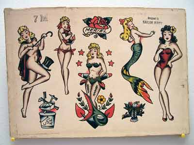 vintage Sailor Jerry mermaids