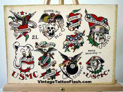sailor jerry flash eagle  Vintage Sailor Tattoo Designs Sailor