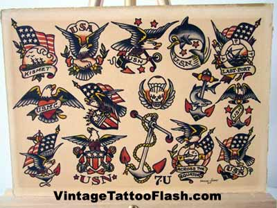 vintage tattoo photos. Sailor Jerry Tattoo Flash Sheet click to enlarge image!