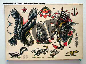 sailor jerry boxing eagle tattoo  Sailor Jerry Eagle Flash sailo...